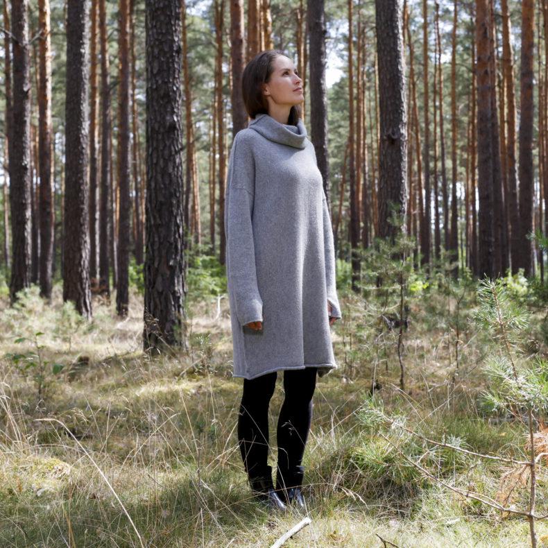 Oversize Pullover Wendepullover Alpakawolle
