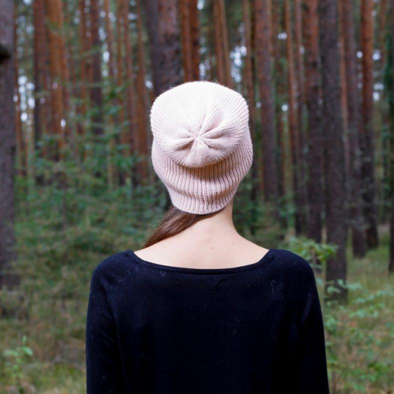 strickmode handmade beanie muetze alpaka wolle rosa fellblick